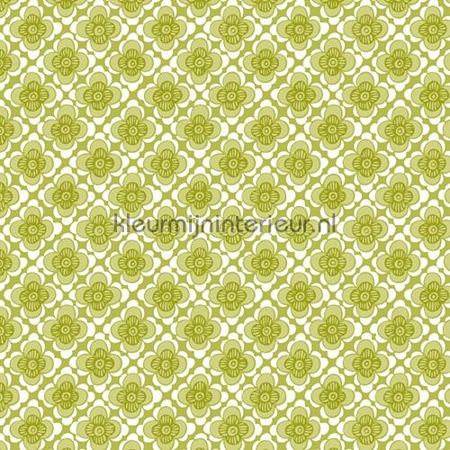 Eco wallpaper eco wallpaper eco happy 3859 bloemenruit groen - Stijlvol behang ontwerpen ...