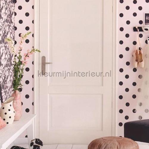 Wit Behang Met Zwarte Stippen  Behang Black And Light Eijffinger Kleurmijninterieur Nl