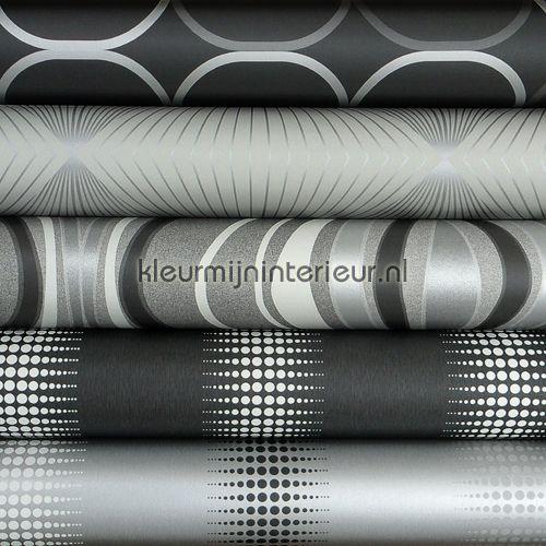 bhng knuts zwart zilver grijs gr - Behang Zwart Zilver