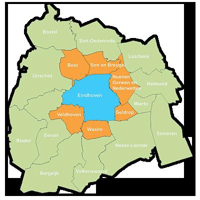 Inmeten en monatge regio Eindhoven