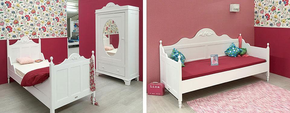 bopita tienerkamer meisjes roze met spiegelkast