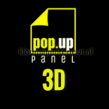 Pop up panel 3D - interieurstickers