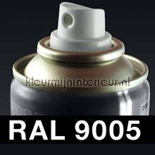 Spuitbus RAL 9005 Diep Zwart glans of mat autolak DupliColor RAL spuitbus sneldrogend