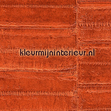 Anguille donker oranje papel de parede Elitis Anguille Big croco Galuchat VP-424-07