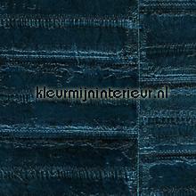 Anguille diep blauw carta da parati Elitis Anguille Big croco Galuchat VP-424-09