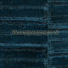 Anguille diep blauw papel pintado Elitis Anguille Big croco Galuchat VP-424-09