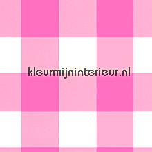 Grote roze ruit behang Onszelf behang