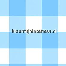Grote blauwe ruit tapet Onszelf Baby OZ-7629