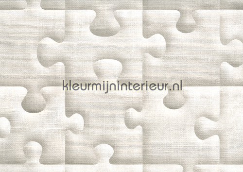 Puzzelmet relief effect behang behang for Modern behang
