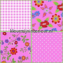 Patchwork roze papel de parede Noordwand Wallpaper creations