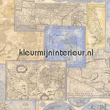 Werelkaart antique tapeten AS Creation Dekora Natur 6 6643-10