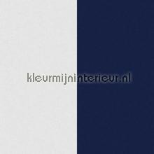 Brede streep 26 cm blauw wit behang Dutch Wallcoverings behang