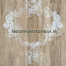 Hout met ornament stempel behang BN Wallcoverings behang
