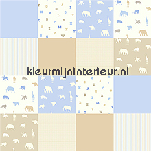 Aparte dieren patchwork wallcovering Esta home urban