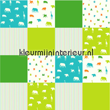 Aparte dieren patchwork tapet Esta home Giggle 157324