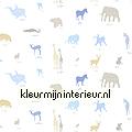 Aparte jungle dieren stof children's curtains