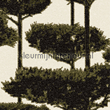 Trees glass mosaic wit zwart papel de parede Elitis Glass VP-642-05