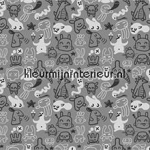 Doodles grey papel pintado Noordwand Little Ones 42037