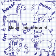 Notepad scribble photomural Noordwand Little Ones 416055