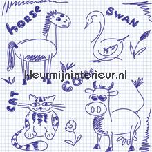 Notepad scribble papel pintado Noordwand Little Ones 416055