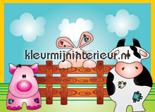 Farm animals papel pintado Noordwand Little Ones 418041
