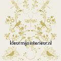 Birds & ornaments gold kinderkamer