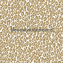 Panterprint bruin behang Esta home Love 136808
