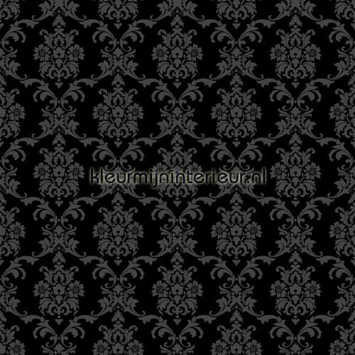 Klassiek motief zwart behang 136825 Love Esta home