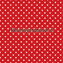 stipje wit op rood behang Esta home Love 137004