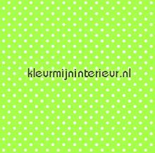 Stipje wit op groen behang Esta home Love 137005