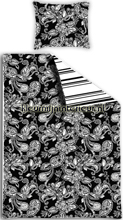 Love black & white dekbed cortinas Esta home tampa do duvet