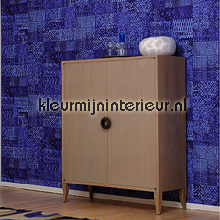 Kilim paars blauw wallcovering Elitis urban