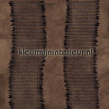Parure bruin zwart behang Elitis Memoires VP-658-34