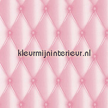 Soft silk pink behang Caselio behang