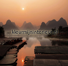 Red dawn in the Orient fotobehang BN Wallcoverings No Limits 30401