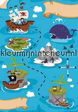Treasure Map fototapeten Dutch Wallcoverings Olly OL13041