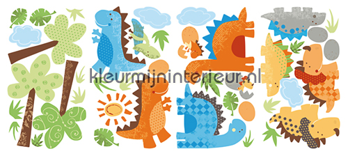 BabySaurus stickerset wallstickers RMK2023SCS dinoos York Wallcoverings