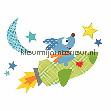 Spacedog jumbo sticker interieurstickers York Wallcoverings Baby Peuter