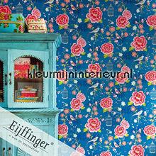 Pip vogels, bloemen en kooitjes papier peint Eijffinger Wallpaper creations