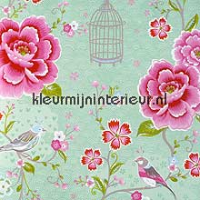 pip vogels, bloemen en kooitjes papier peint Eijffinger PiP Wallpaper II 313013