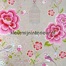 pip vogels, bloemen en kooitjes papier peint Eijffinger PiP Wallpaper II 313014