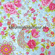 Pip pauw en bloemen papier peint Eijffinger PiP Wallpaper II 313051