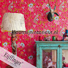 Pip pauw en bloemen behang Eijffinger romantisch modern