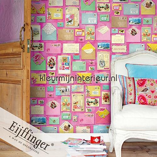 Youve got mail pink papier murales 313108 PiP studio wallpaper Eijffinger
