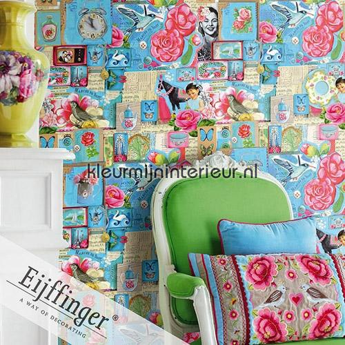 Pip Art Blue fotobehang 313111 PiP studio wallpaper Eijffinger