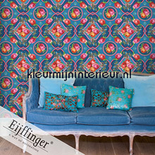 Singing Roses blue fotomurali Eijffinger PiP studio wallpaper