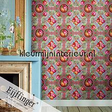Singing Roses khaki fotobehang Eijffinger PiP studio wallpaper