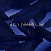 Navy Blauw Voile gordijnen AS Creation uni kleuren