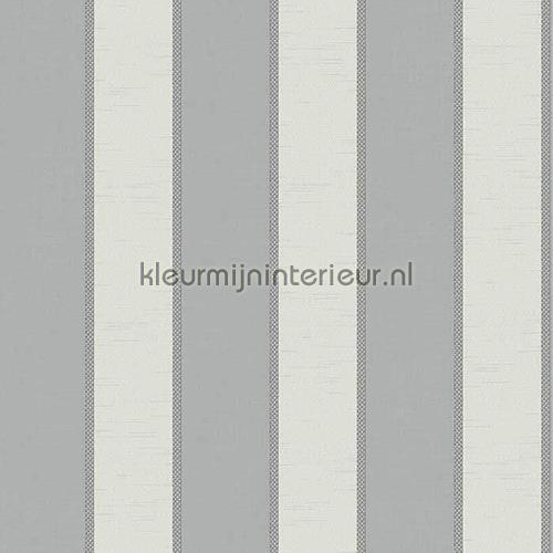 Brocante streep combi zilvergrijs 8061 behang vintage noordwand - Zilvergrijs behang ...
