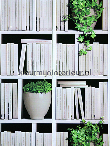 moderne boekenkast behang j40607 virtual reality dutch wallcoverings